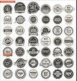 quality retro vintage badges and labels collection vector image vector image
