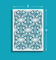 rectangle panel with cutout lace pattern vector image vector image