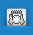 restaurant icon top rating vector image
