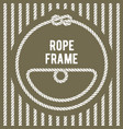 retro round rope frame with knot vector image vector image