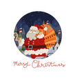 round christmas-themed plate design vector image vector image