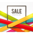 Sale background with frame and colorful ribbons vector image vector image