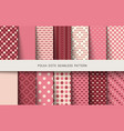 seamless vintage patterns polka dots set vector image vector image