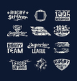 Set of badges college rugby team vector image