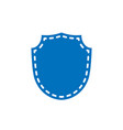 shield shape icon blue silhouette sign isolated vector image