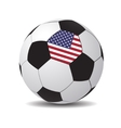 soccer ball with the flag of USA vector image