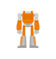 space robot transformer icon flat isolated vector image vector image