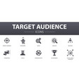 target audience simple concept icons set contains vector image vector image