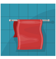 towels on the holder eps10 vector image vector image