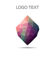 Triangle logo or icon of stone in vector image vector image