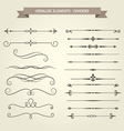 Vintage book vignettes dividers and separators set vector image vector image