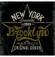 Vintage label with Brooklyn City design vector image