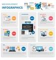 Web Development Infographic Set vector image vector image