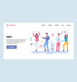 web site gradient design template people vector image