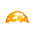 africa tree forest abstract logo vector image