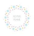 Christmas festive round frame for Christmas cards vector image
