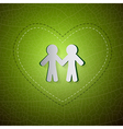 Ecology Green Background People Cut From Paper vector image