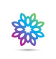 abstract elegant flower logo icon design vector image vector image