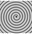 Abstract White Spiral Pattern vector image vector image