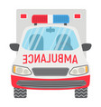 ambulance flat icon transport and vehicle vector image