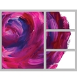 Art background business cards Stroke of the paint vector image vector image