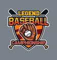 baseball badge logo emblem template legend