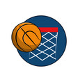 basketball and basket with ball icon vector image vector image