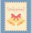 bells celebration happy christmas stamp vector image vector image