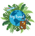 big travel flat poster vector image vector image