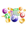 bingo poster with realistic game equipment falling vector image vector image