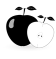 Black apple - vector image vector image