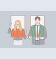 business identity self portraits concept vector image