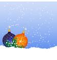 christmas balls on snow vector image vector image