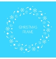 Christmas round frame for Christmas cards vector image vector image