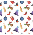 christmas symbols triangle shape seamless pattern vector image