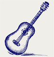 Classical guitar vector image vector image