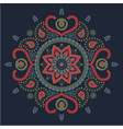 colored indian mandala ethnic lace ornament vector image