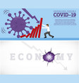 coronavirus outbreak cause a domino effect vector image