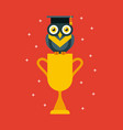 cup graduate owl vector image vector image