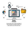 data analysis infographic vector image