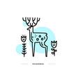 deer in national park vector image