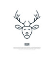 deer line icon minimalist of wild animal vector image vector image
