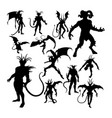 devil silhouettes vector image