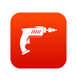 drill icon digital red vector image vector image