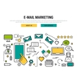 E-mail marketing line concept vector image vector image