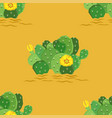 eastern prickly pear cactus with yellow vector image vector image