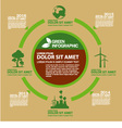 Eco green info graphic design vector image