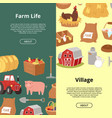 farm life and village organic farming and vector image vector image