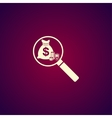 finance analysis icon vector image