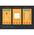 Flat design template for mobile devices vector image